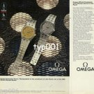 OMEGA - 1980 OFFICIAL TIMEKEEPER OF MOSCOW &  LAKE PLACID OLYMPICS PRINT AD - 1