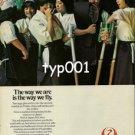 JAL JAPAN AIR LINES - 1979  TEENAGE GIRLS & KENDO PRINT AD