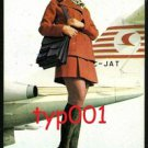 "TURKISH AIRLINES - 1974  PERIHAN SAVAS POSTCARD FROM FILM ""HOSTESS"""