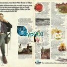 KLM - 1973 - I FLEW KLM TO AMSTERDAM AND THEIR POLAR ROUTE TO TOKYO PRINT AD