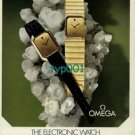 OMEGA - 1973 - THE ELECTRONIC WATCH MINERALS FORM ITS HEART AND FACE  PRINT AD
