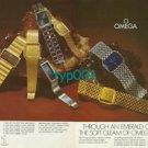 OMEGA - 1973 - THROUGH AN EMERALD CUT CRYSTAL SOFT GLEAM OF PRECISION PRINT AD
