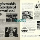 PAN AM - 1973 - FLYING THE MOST EXPERIENCED WON'T COST YOU ANY MORE PRINT AD