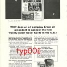 MOBIL - 1964 - WHY DOES AN OIL COMPANY SPONSOR A FRANK TRAVEL GUIDE PRINT AD