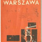 LOT POLISH AIRLINES - 1972 WARSAW MAP AND INFO BROCHURE