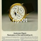 AUDEMARS PIGUET - TIME MAG - 1980 - MASTERPIECE OF THE WATCHMAKING ART PRINT AD