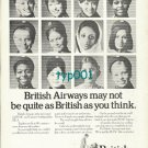 BOAC - BEA - BRITISH AIRWAYS - 1974 - MAY NOT BE QUITE AS BRITISH PRINT AD