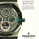 AUDEMARS PIGUET - 1996 - IT TAKES MORE THAN MONEY TO WEAR THE ROYAL OAK PRINT AD