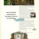 ROLEX - 1998 - ROLEX CENTERS ARE FOUND IN GREAT CAPITALS OF THE WORLD 1 PRINT AD