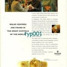 ROLEX - 1998 - ROLEX CENTERS ARE FOUND IN GREAT CAPITALS OF THE WORLD 2 PRINT AD