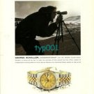 ROLEX - 2000- GEORGE SCHALLER THE CONSERVATIONIST PRINT AD