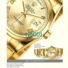 ROLEX - 2001- THE NEW OYSTER PERPETUAL DAY DATE WATCH PRINT AD