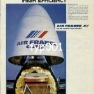 AIR FRANCE - 1983 - HIGH EFFICIENCY CARGO PRINT AD
