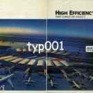 AIR FRANCE - 1985 - HIGH EFFICIENCY PARIS CHARLES DE GAULLE AIRPORT PRINT AD