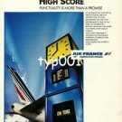 AIR FRANCE - 1985 - HIGH SCORE PUNCTUALITY  PRINT AD