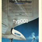 TIME MAG - AIR FRANCE - 1985 - HIGH TECHNOLOGY CONCORDE PRINT AD