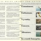 ROLEX - 1990 - ROLEX AWARDS FOR ENTERPRISE PRINT AD