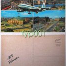 PAN AM - 1969 BOEING 707 LOST OVER FRANKFURT POSTCARD