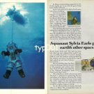 ROLEX - 1990 - AQUANAUT SYLVIA ERLE PROBES THE EARTH'S OTHER SPACE PRINT AD