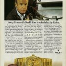ROLEX - 1990 - EVERY FRANCO ZEFFIRELLI FILM IS SCHEDULED BY ROLEX  PRINT AD