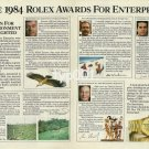 ROLEX - 1984 - THE 1984 ROLEX AWARDS FOR ENTERPRISE PRINT AD
