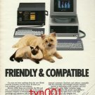 OLIVETTI COMPUTERS - 1984  FRIENDLY & COMPATIBLE PRINT AD -  CAT & DOG FRIENDS