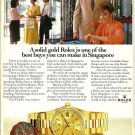 ROLEX - 1988 - SOLID GOLD ROLEX IS THE BEST BUY IN SINGAPORE PRINT AD