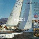 ROLEX - 1984 - ROLEX SWAN WORLD CUP '84 PORTO SERVO SARDINIA YACHTING PRINT AD