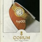 CORUM - 1990 - THE ADMIRAL'S CUP WATCH PRINT AD