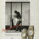 OMEGA - 1990 - SIGNIFICANT MOMENTS - WALL STREET PRINT AD
