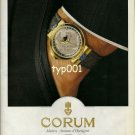 CORUM - 1990 - THE METEORITE PEARY WATCH PRINT AD
