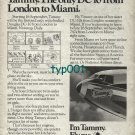 NATIONAL AIRLINES - 1973 COMING 16 SEPT TAMMY THE ONLY DC10 FROM LONDON PRINT AD