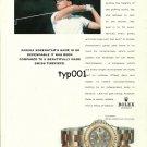 ROLEX - 1999 - PRO GOLFER ANNIKA SORENSTAM & HER YACHT MASTER PRINT AD