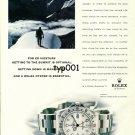 ROLEX - 1999 - MOUNTAINEER ED VIESTURS & HIS EXPLORER II PRINT AD