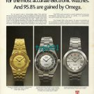 OMEGA - 1974 - ELECTRONIC CHRONOMETER TITLE FOR THE MOST ACCURATE WATCH PRINT AD