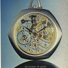 AUDEMARS PIGUET - 1974 - WE CREATE FOR QUALITY MEN FRENCH PRINT AD - 2