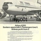AIRBUS INDUSTRIE - 1976 - BANKERS, PASSENGERS, AIRLINERS LOVE A300 PRINT AD - AF