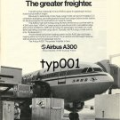 AIRBUS INDUSTRIE - 1976 - A300 THE GREAT FREIGHTER PRINT AD - KOREAN AIRLINES