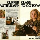 PAN AM - 1980 - CLIPPER CLASS A BEAUTIFUL WAY TO GO TO WORK PRINT AD
