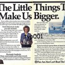 PAN AM - 1985 - IT'S THE LITTLE THINGS THAT MAKE US BIGGER PRINT AD