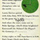 ROLEX - 1996 - NBC PRO GOLF PROGS SPONSORED BY ROLEX PRINT AD