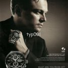 TAG HEUER - 2009 - LEONARDO DI CAPRIO ENVIRONMENT SUPPORT GERMAN  PRINT AD