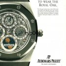 AUDEMARS PIGUET - 1995 - IT TAKES MORE THAN MONEY TO WEAR THE ROYAL OAK PRINT AD