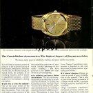 OMEGA - 1968 - HIGHEST DEGREE OF PRECISION PRINT AD - MEXICO OLYMPICS