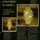 OMEGA - 1969 - MATCHLESS OMEGA CONSTELLATION AT LAST FINDS ITS MATCH PRINT AD