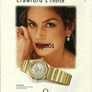 OMEGA - 2000 - CINDY CRAWFORD'S CHOICE PRINT AD - 03