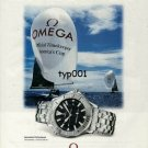 OMEGA - 2000 - THE AMERICA'S CUP CHOICE SEAMASTER PROFESSIONAL PRINT AD
