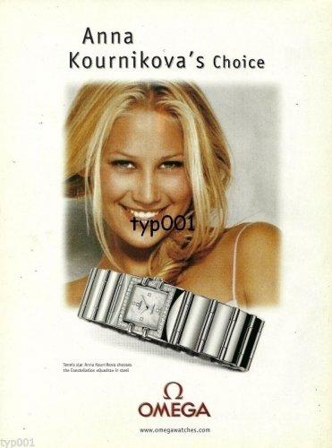 OMEGA - 2001 - ANNA KOURNIKOVA'S CHOICE TENNIS PRINT AD