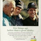 ROLEX - 2001 - FEW THINGS ARE BETTER THAN GREAT RIVALRY PRINT AD