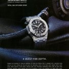 AUDEMARS PIGUET - 2010 - A QUEST FOR DEPTH ROYAL OAK OFFSHORE DIVER PRINT AD